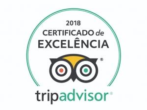 Certificado de Excelência 2018 do TripAdvisor